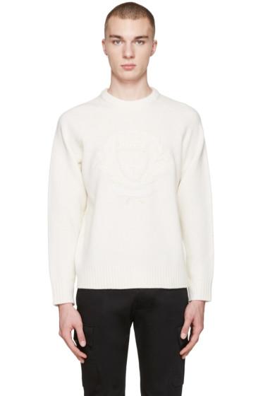 Burberry - White Wool Bexhill Sweater