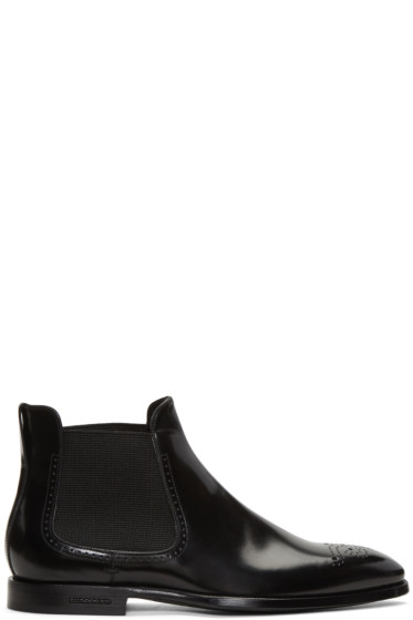 Burberry - Black Davy Mod Chelsea Boots