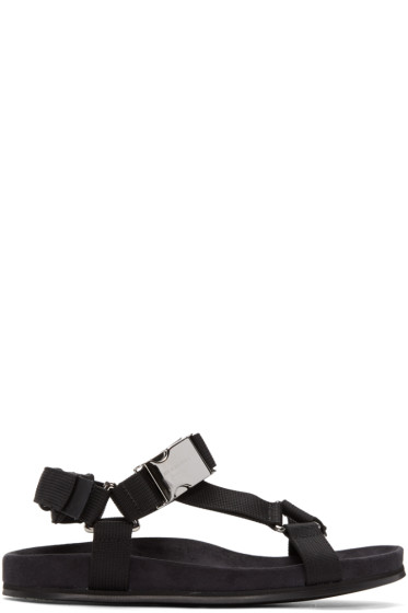 Burberry - Black Ardall Sandals