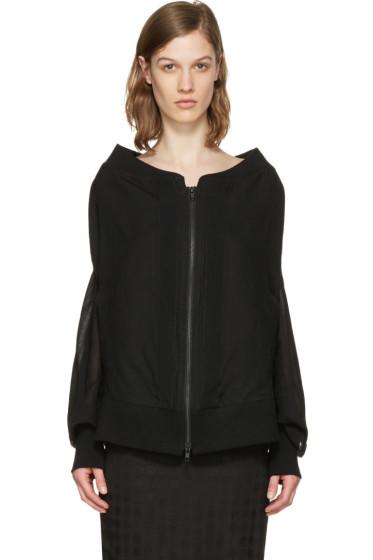 Ann Demeulemeester - Black Oversized Milana Bomber Jacket