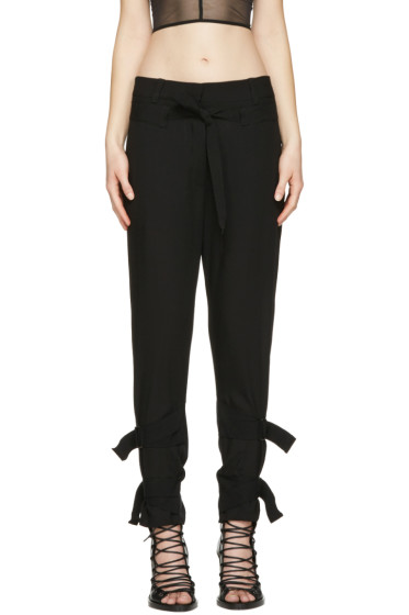 Ann Demeulemeester - Black Straps Trousers