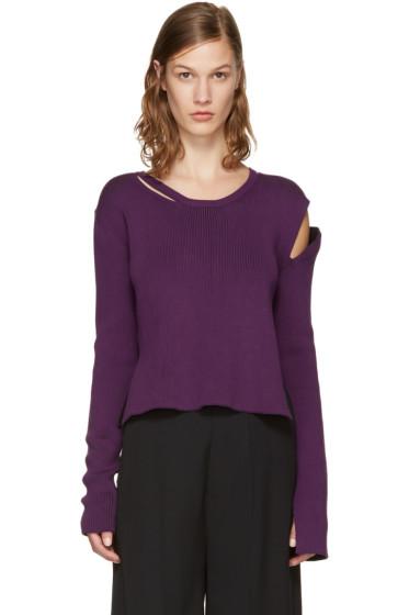 Ann Demeulemeester - Purple Median Pullover