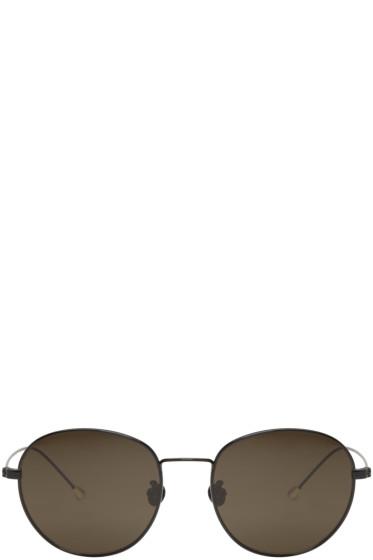 Ann Demeulemeester - Black Round Sunglasses