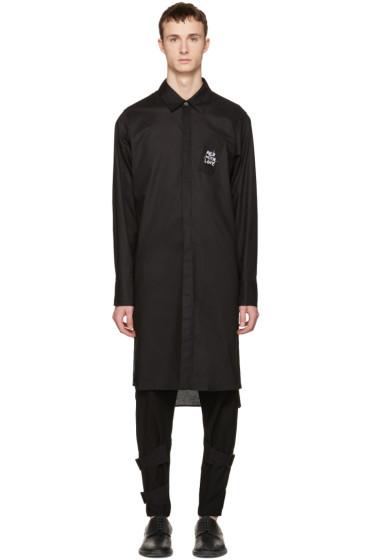 Ann Demeulemeester - Black Long Embroidery Shirt
