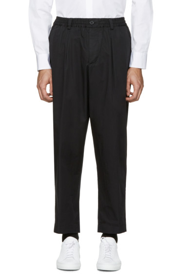 Marni - Black Cotton Wide Trousers