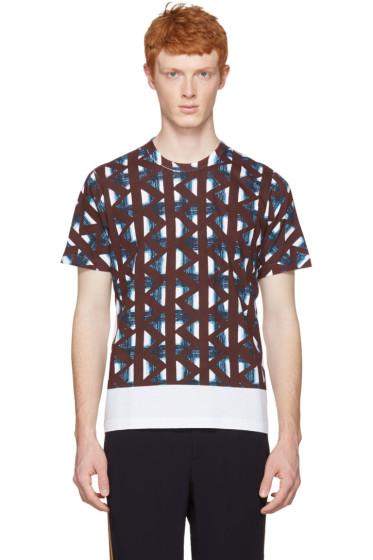 Marni - White & Multicolor Thrum Print T-Shirt