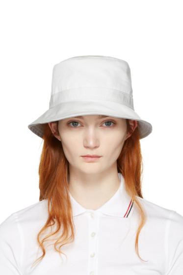 Thom Browne - White Bucket Hat
