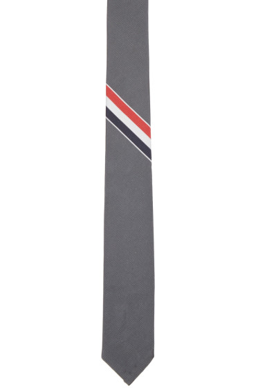 Thom Browne - Grey Classic Striped Tie