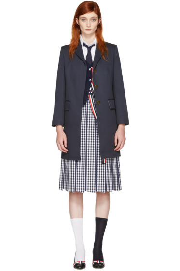 Thom Browne - Navy Chesterfield Coat