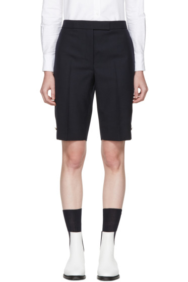 Thom Browne - Navy Classic Bermuda Shorts