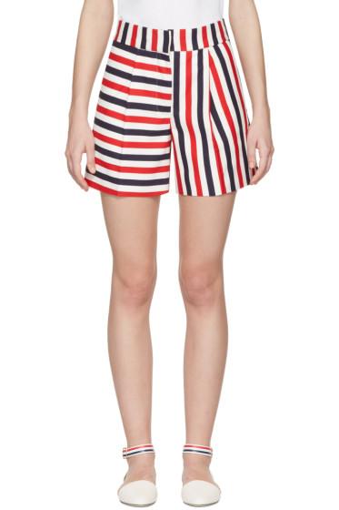 Thom Browne - Tricolor Single Pleat Mini Shorts