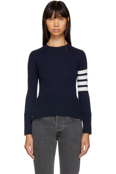 Thom Browne - Navy Classic Crewneck Short Pullover