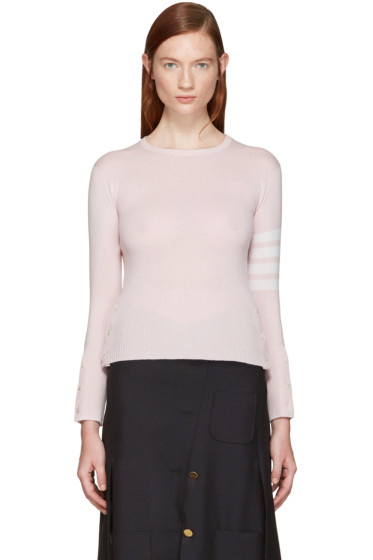 Thom Browne - Pink Classic Crewneck Short Pullover