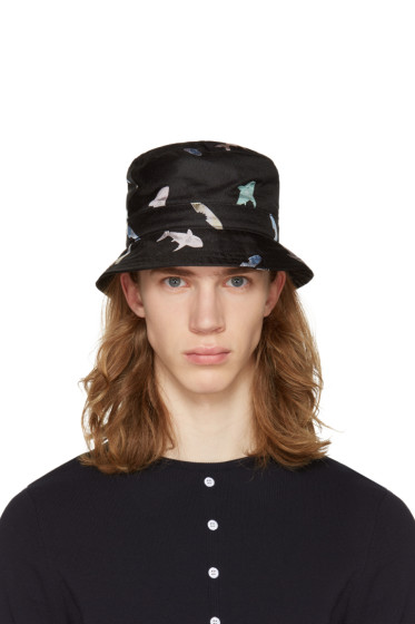 Thom Browne - Black Shark & Surfboard Bucket Hat