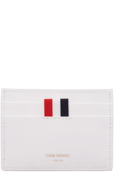 Thom Browne - White Single Card Holder