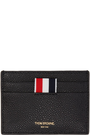 Thom Browne - Black Single Card Holder