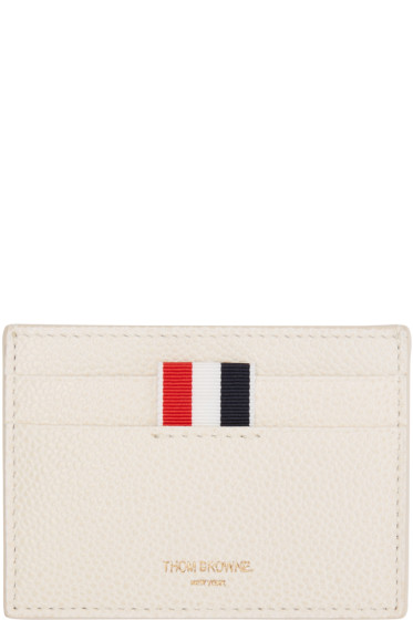Thom Browne - Off-White Single Card Holder