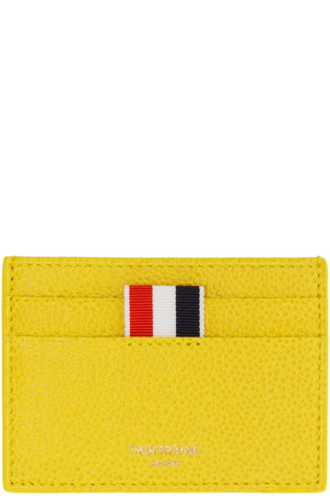 Thom Browne - Yellow Single Card Holder