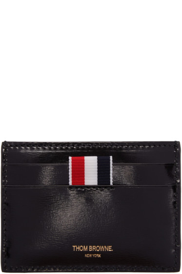 Thom Browne - Black Whale Single Card Holder