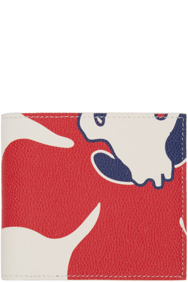 Thom Browne - Tricolor Floral Outline Billfold Wallet