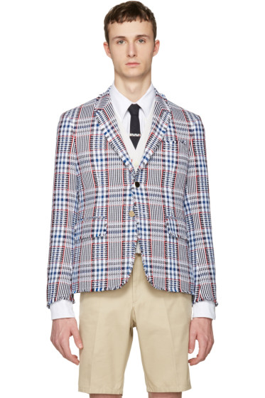 Thom Browne - Multicolor Tweed High Armhole Blazer