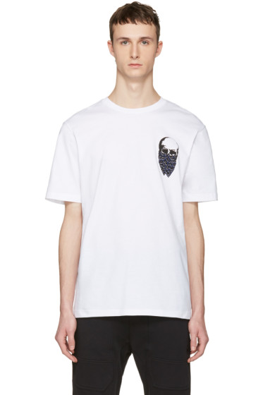 Markus Lupfer - White Small Skull Bandana T-Shirt