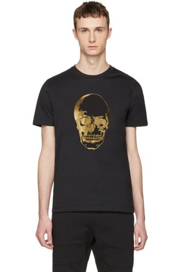 Markus Lupfer - Black & Gold Skull T-Shirt