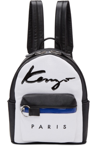 Kenzo - White Logo Essentials Backpack