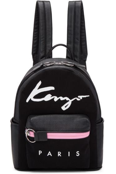 Kenzo - Black Logo Essentials Backpack