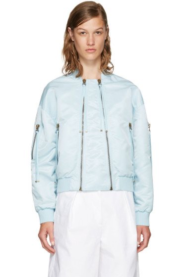 Kenzo - Blue Elevated Military Bomber Jacket