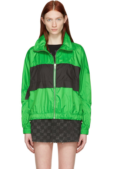 Kenzo - Green Colorblocked Logo Jacket