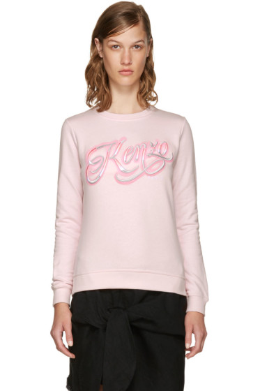 Kenzo - Pink Lyrics Sweatshirt