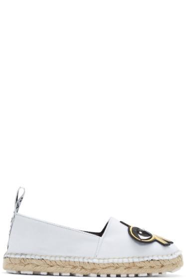 Kenzo - White K-Patch Espadrilles