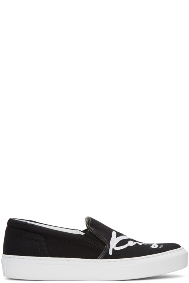 Kenzo - Black K-PY Signature Platform Slip-On Sneakers