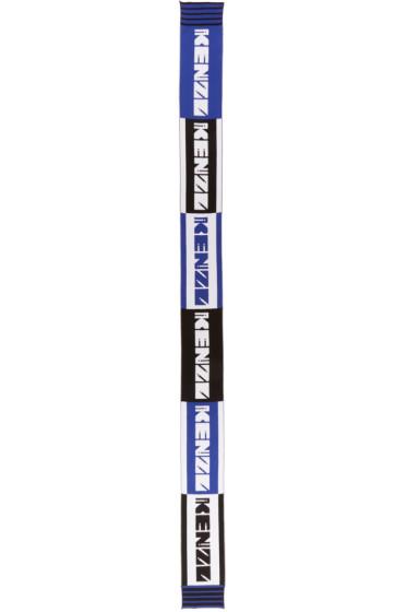 Kenzo - Blue Nasa Logo Team Scarf