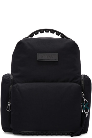 Kenzo - Black Studded Backpack