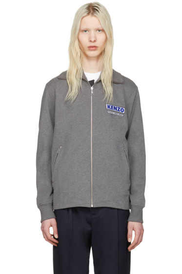 Kenzo - Grey 'Come Out' Track Jacket