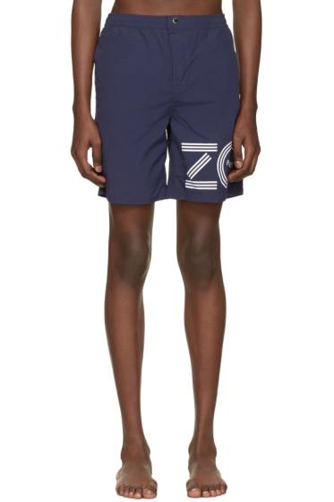 Kenzo - Blue Logo Swim Shorts