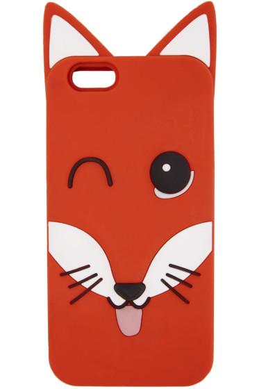 Maison Kitsuné - Orange 3D Fox Head iPhone 6 Case