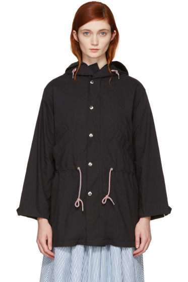 Maison Kitsuné - Black Water-Repellent Cotton Parka