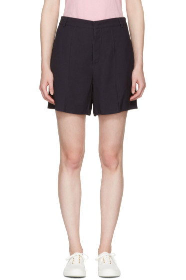 Maison Kitsuné - Navy Crepe Maddy Shorts