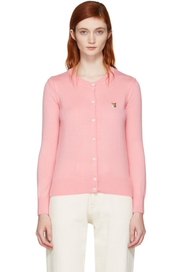 Maison Kitsuné - Pink Fox Head Patch Cardigan