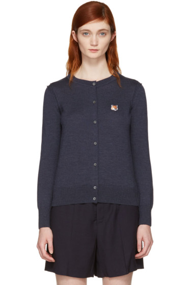 Maison Kitsuné - Navy Fox Head Patch Cardigan