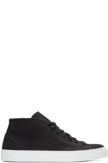Diemme - Black Nubuck Loria Mid-Top Sneakers