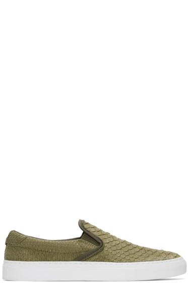 Diemme - Green Python Garda Slip-On Sneakers