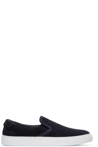 Diemme - Navy Suede Garda Slip-On Sneakers