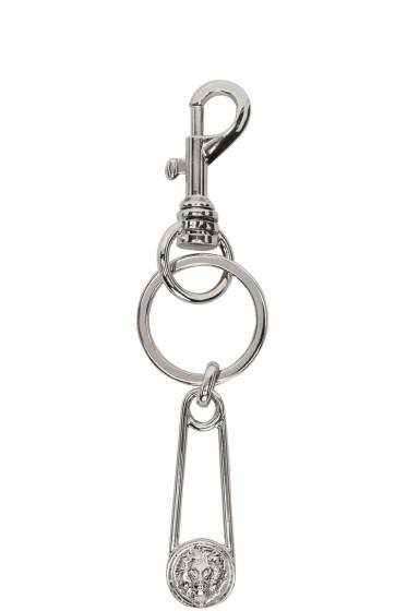 Versus - Silver Safety Pin Keychain
