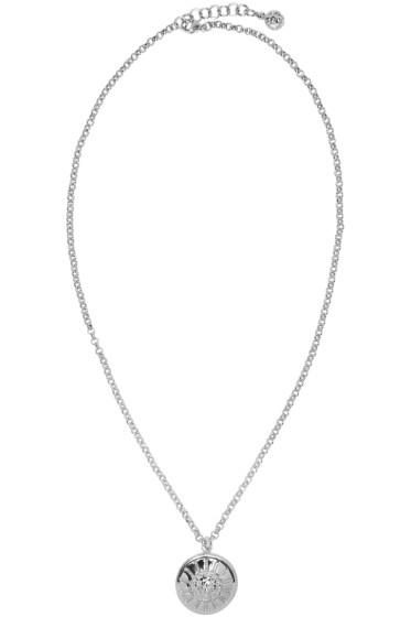 Versus - Silver Lion Medallion Necklace