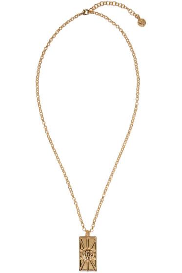Versus - Gold Lion Pendant Necklace
