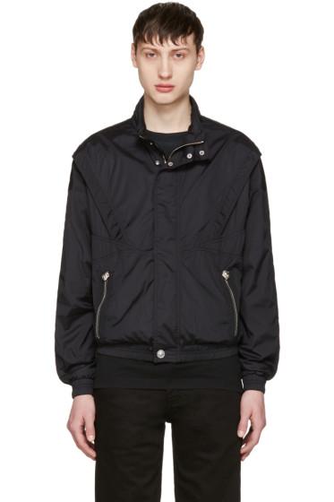 Versus - Black Nylon Hooded Jacket